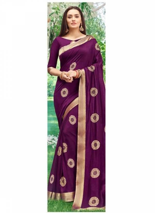 Kalista Fashion Khushboo Series 1001-1006 Designer Vichitra Silk Party Wear Sarees Collection