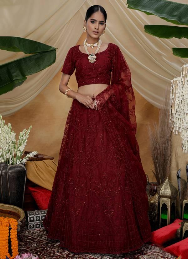 Khushbu-Fashion-Bridesmaid-Vol-6-Series-1311-1314-Net-Thread-Embroidery-Work-Sangeet-Wear-Lehenga-Cholis-Collection