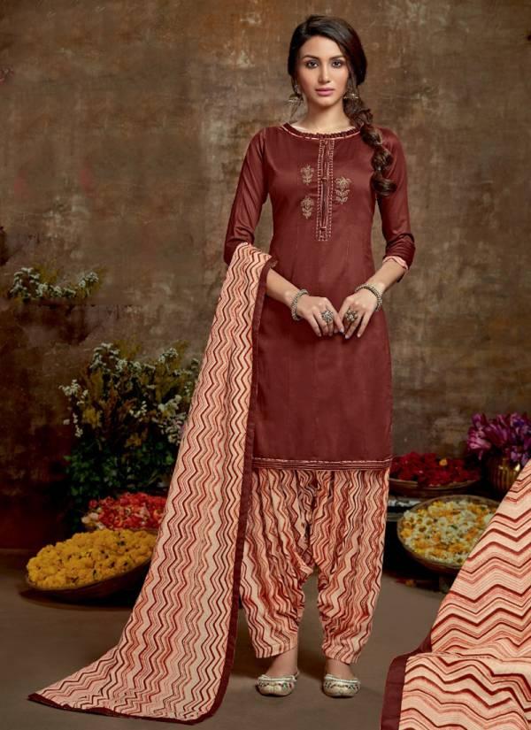 Vastu Tex Kiara Patiyala Series 3001-3005 Jam Satin With Work And Hand Work Regular Wear Suits Collection