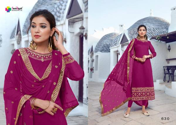 Sanskruti Kishna Vol 4 Series 625-630 Pure Jam Silk With Heavy Embroidery & Hand Work Party Wear Suits Collection