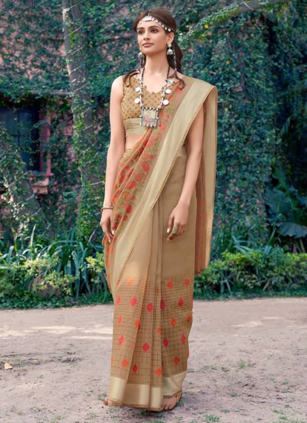 Konkona Linen Cotton With Handloom Art Print Based Fancy Sarees Collection 51971-51982