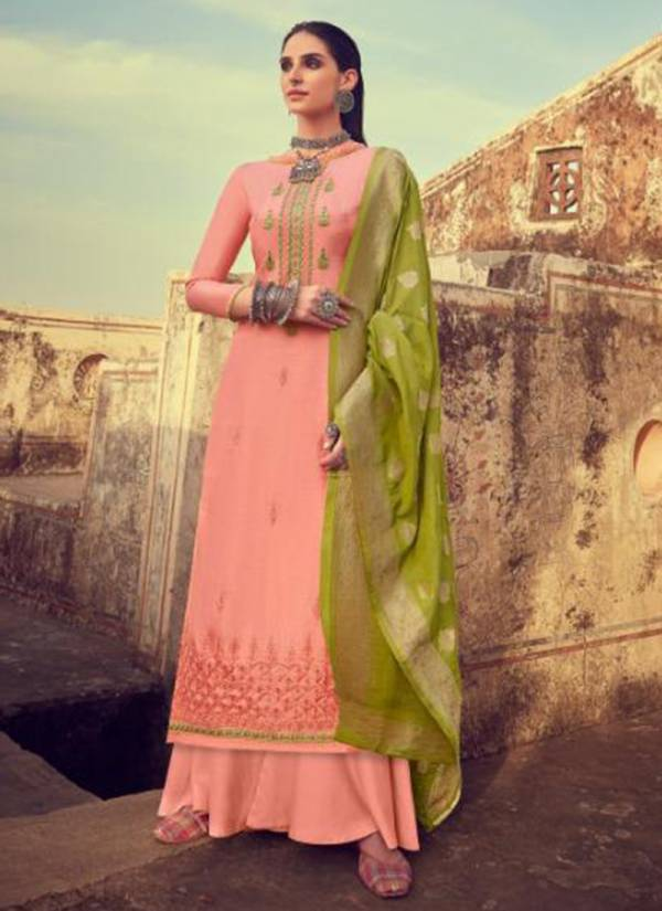 Tanishk Fashion Kriza Series 14301-14306 New Designer Pure Jam Satin With Heavy Embroidery Work Party Wear Suits Collection