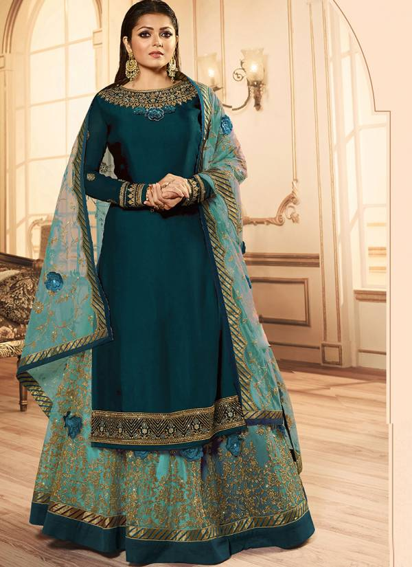 LT Nitya Designer Party Wera Embroidery Work Georgette Anarkali SuitS Collection 158109-1581112