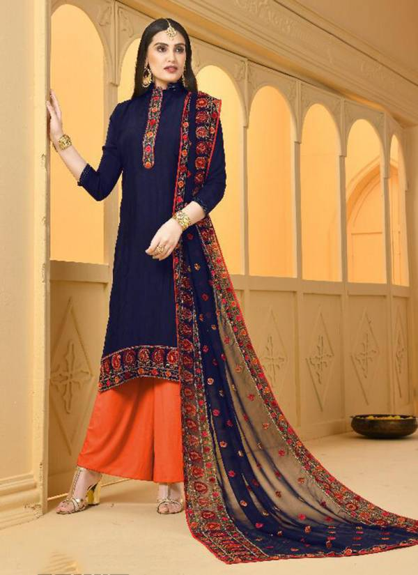 Laado Party Wear Jam Silk Cotton Top Lawn Cotton Bottom With Georgette With Heavy Embroidery Work Fancy Dupatta Suits Collection 3127-3130