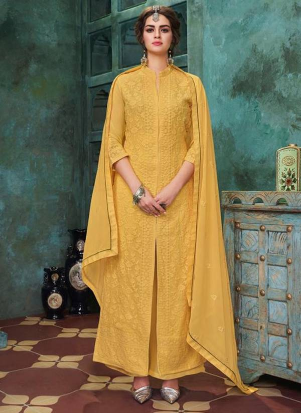 Sajawat Creation Lakhnavi Vol 04 Series 25-30 Heavy Faux Georgette With Embroidery Work Suits Collection (Only Top Readymade)