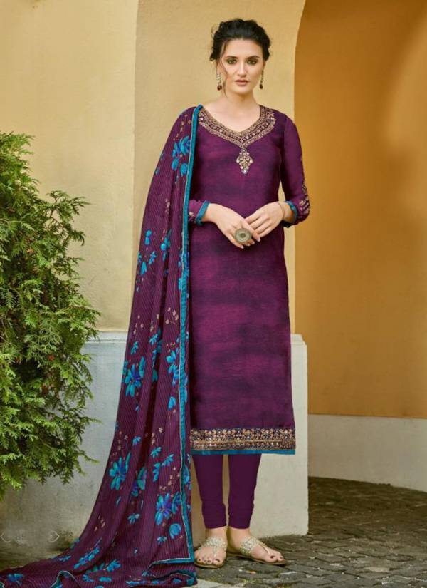 Lavina Vol-89 Crep Silk Embroidery Work Stylish Look Suits Collection 89001-89007