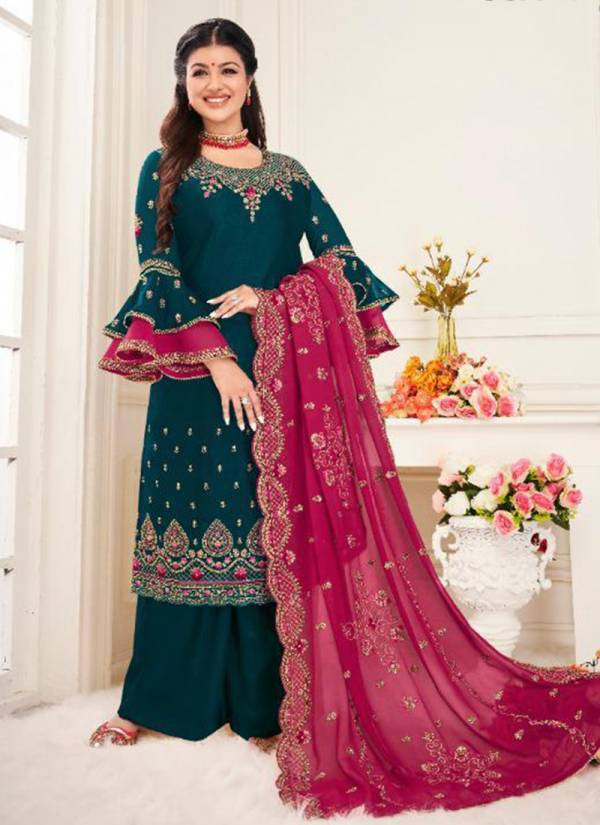 Lavina Vol 104 Series 10401-10406 New Look Satin Georgette Stylish Embroidery Work Wedding Wear Suits Collection
