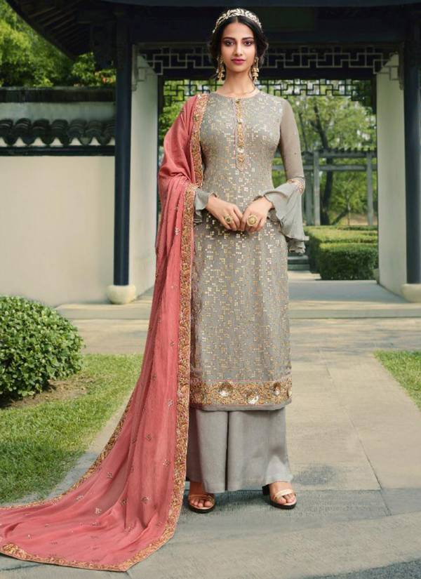 Glossy Simar Lewel Series 18090-18094 Pure Viscose Chinon With Sequins Embroidery Party  Wear Stylish Salwar Suit Collectin