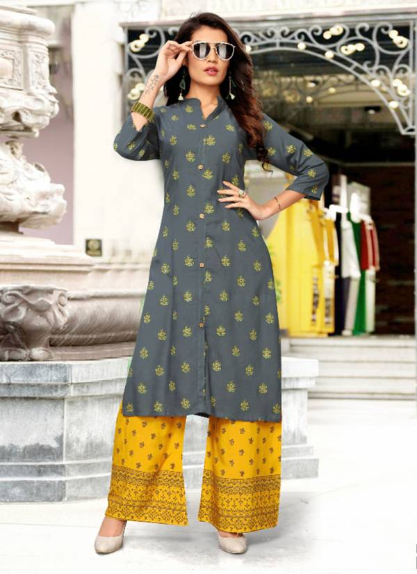 Libas Vol 2 Rayon Stylish Look Foil Printed Kurti With Bottom Collection 2001-2011