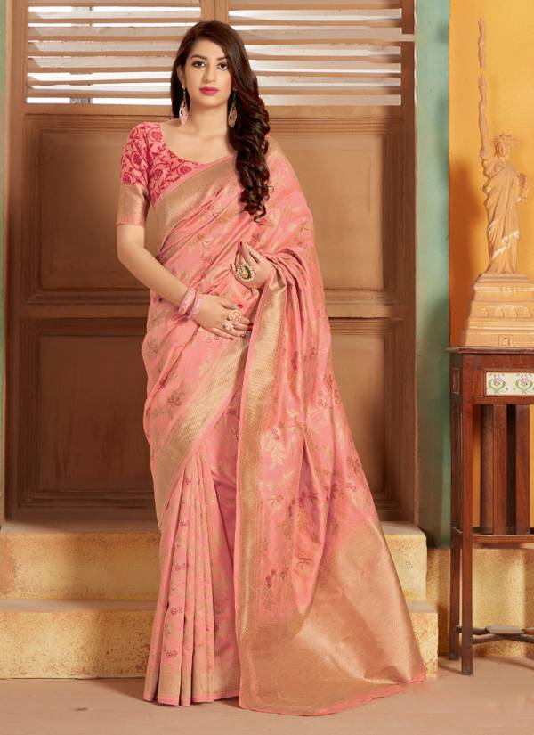 Lotus Vol 11 Designer Attractive Look Silk Women Sarees Collection 1104