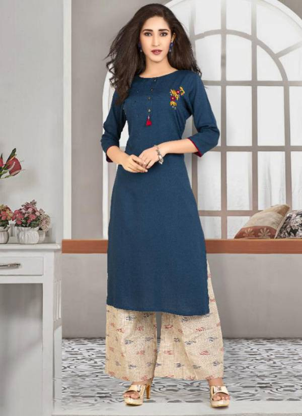 Krishriyaa-Luxe-Vol-7-Series-10411-10416-Rayon-With-Hand-Work-Party-Wear-Kurti-With-Palazzo-Collection