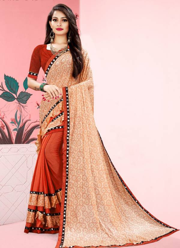 Ladys Ethnic Lycra Series 3401-3412 Lycra Stylish Look Sarees Collection