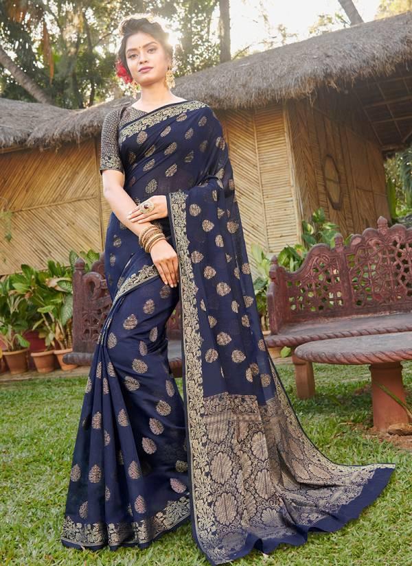 Sangam Madhulika Series 1001-1006 Handloom Silk Party Wear Sarees Collection