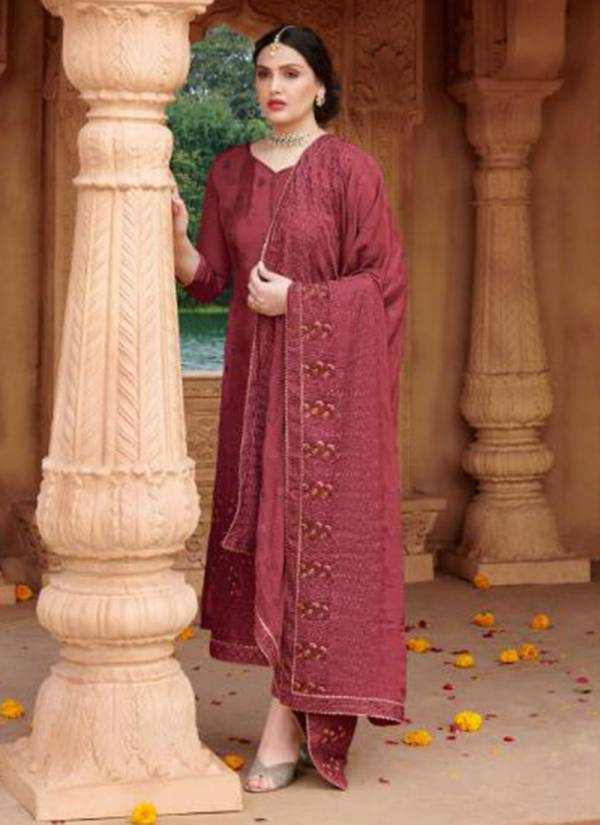 Your Choice Magnet Series 3487-3490 Chinon With Heavy Embroidery Work Latest Salwar Suits Collection
