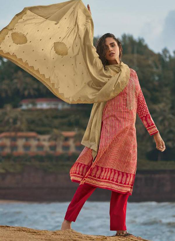 Deepsy Mahira Series 73001-73006 Jam Cotton Print With Codeing Embroidery Work Salwar Suits Collection