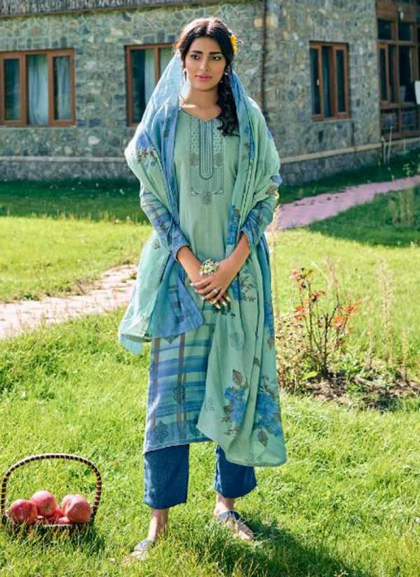 Kaara Mahira Vol 2 Self Woven Pashmina Digital Print With Embroidery Work Stylish Look Suits Collection