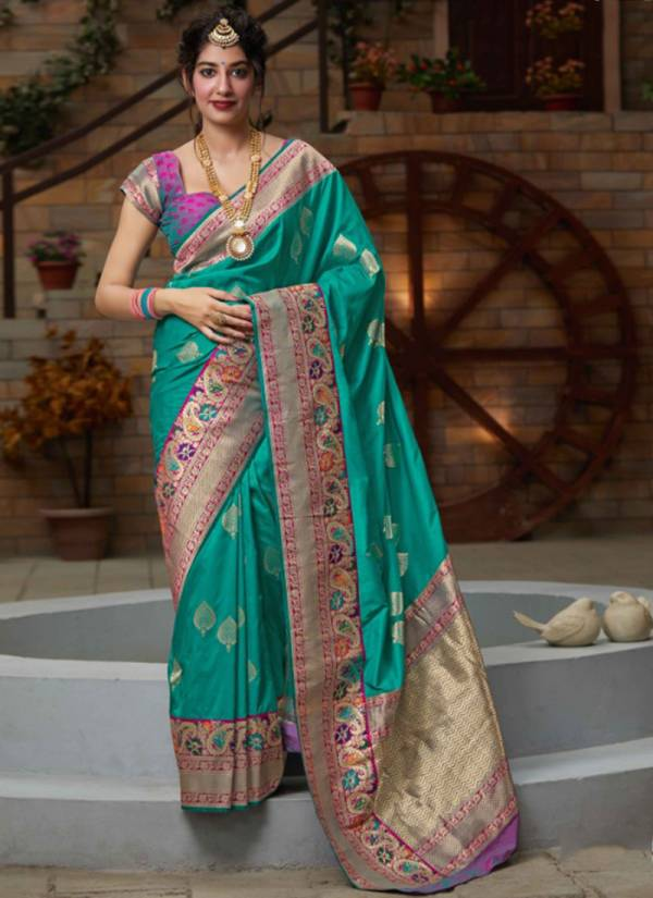 Manjubaa Maithili Silk Series 3401-3405 New Designer Stylish Traditional Wear Silk Sarees Collection