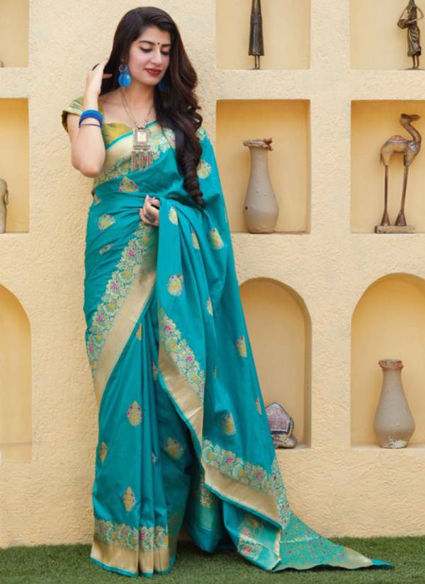 Manjubaa Maithili Silk Series 3406-3410 New Designer Stylish Traditional Wear Silk Sarees Collection