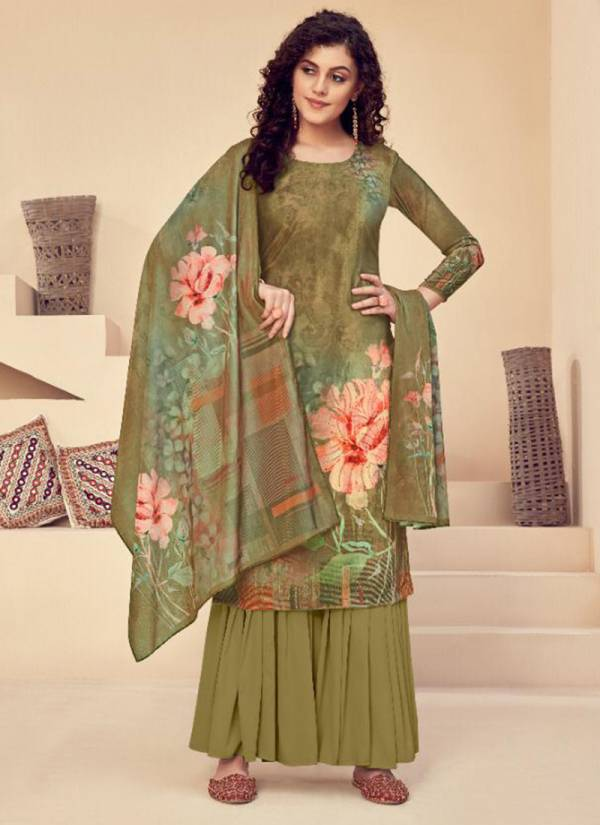 Tunic House Manjabeen Series 82001-82006 Velvet Digital Print With Additional Diamond Work Regular Wear Suits Collection