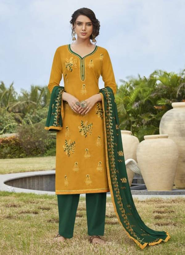 Kalarang Marigold Vol-3 Series 1711-1714 Cotton With Embroidery Work Festival Wear Salwar Suit Collection
