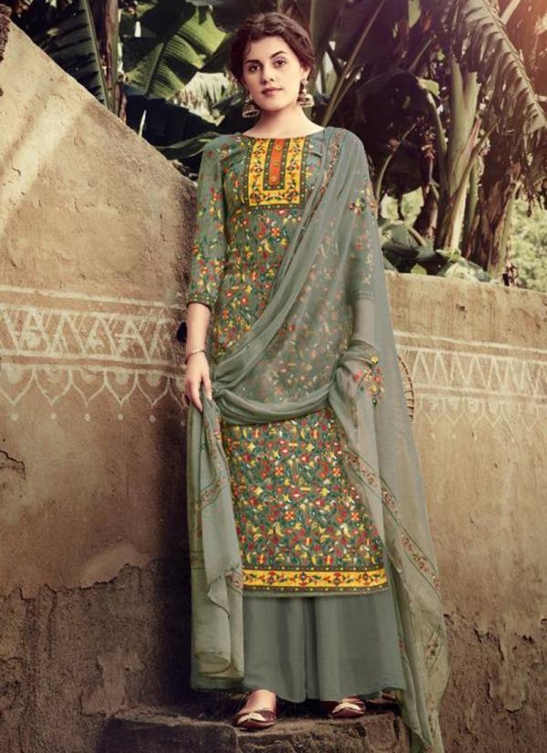 Winter Series 203 001-203 008 New Designer Pure Pashmina Discharge Print With Foil Daily Wear Suits Collection