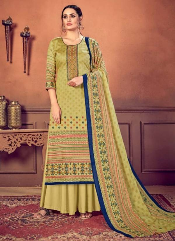 Dhaga Memsaab Series 3001-3006 Pure Cotton Satin Heavy Embroidery Work Salwar Suits Collection