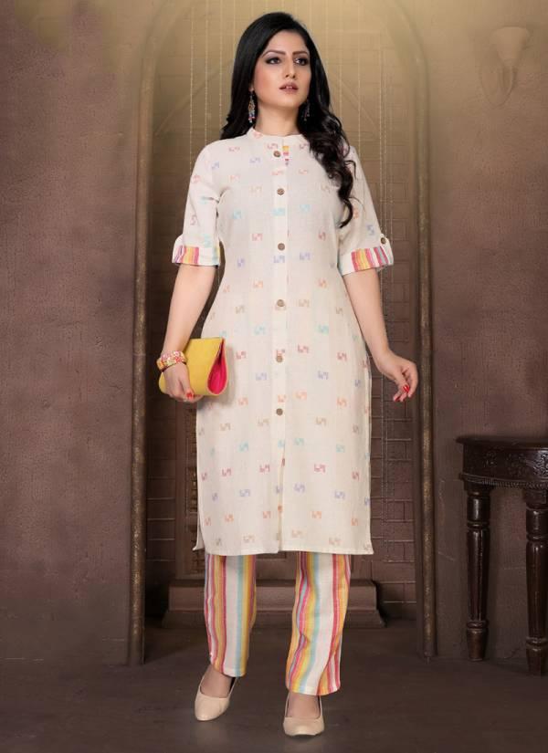 Alishka-Fashion-Mint-Series-1001-1004-Dobby-Cotton-Daily-Wear-Kurti-With-Pant-Collection