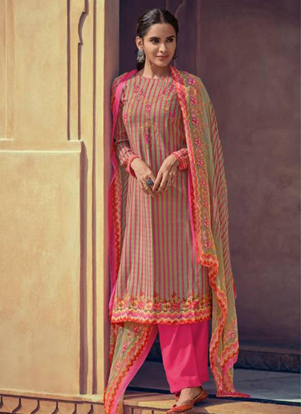Deepsy Mishka Series 76001-76006 Self Woven Pashmina Print With Embroidery Work Festival Wear Suits Collection