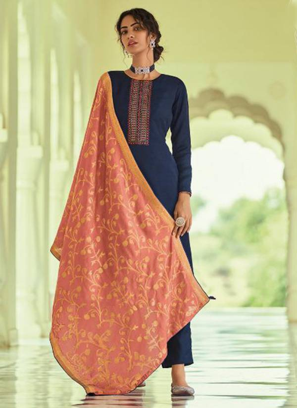 Deepsy Monalisa 2 Series 81001-81006 Nahya Silk Self Butti & Embroidery Work Festival Wear Suits Collection