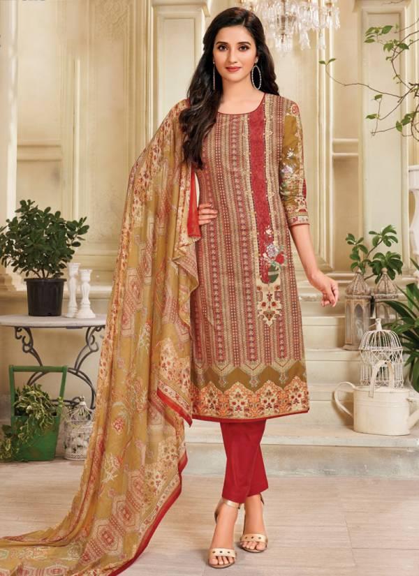 Deeptex Moon Light Vol 5 Series 501-510 Lawn Cotton Salwar Suit With Chiffon Dupatta Exculsive Collection