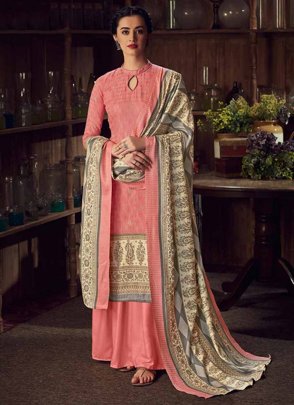 Alok Suit Mughal Queen Series I 655 001-I 655 008 Latest Designer Pure Wool Pashmina Digital Gold Print Salwar Suits Collection