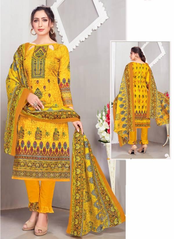 Mishri Mumtaz Vol 7 Series 701-710 Karachi Cotton Stylish Look Regular Wear Salwar Suits Collection
