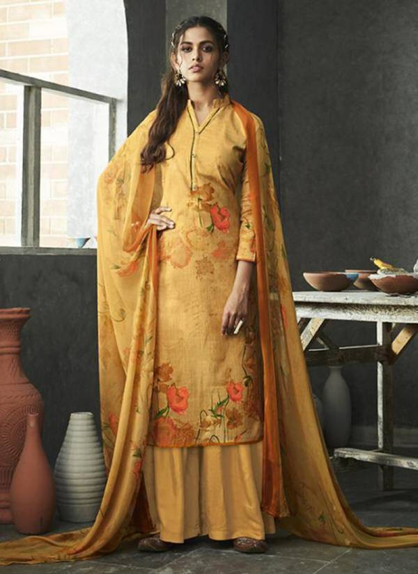 Nakshatra Pure Cotton Linen With Digital Print Salwar Suit With Nazneen Chiffon Dupatta Collection 430-001 - 430-010