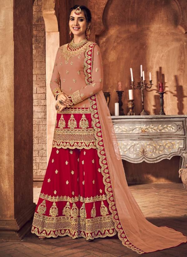Kesari Trendz Nazmaa Series 4001-4006 Heavy Georgette With Net & Heavy Embroidery Work Wedding Wear Salwar Suits Collection