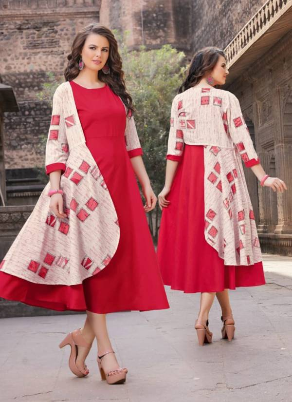 Neerja Cotton Flex Stylish Look Fancy Kurti Collection 1001-1004