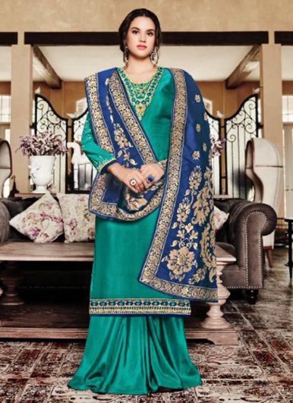 Zubeda Niara Series 18601-18605 Heavy Satin Georgette Wedding Wear Emboideri Work Suit Collection