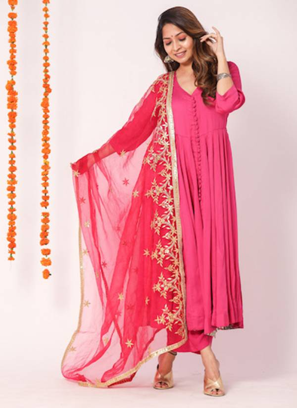 Niksha-Fashion-Series-101-107-Readymade-Heavy-Rayon-Kurti-And-Palazzo-With-Georgette-Embroidery-Work-Fancy-dupatta-Collection