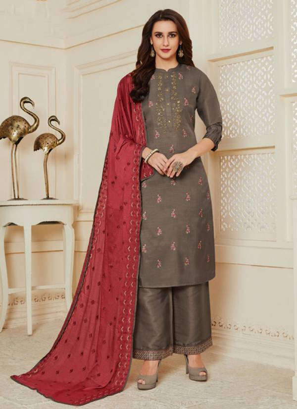 Neha Fashion Nivedita Series 2001 A-D Latest New Designer Tussar Silk With Heavy Embroidey Jari & Sequence Work Festival Wear Suits Collection