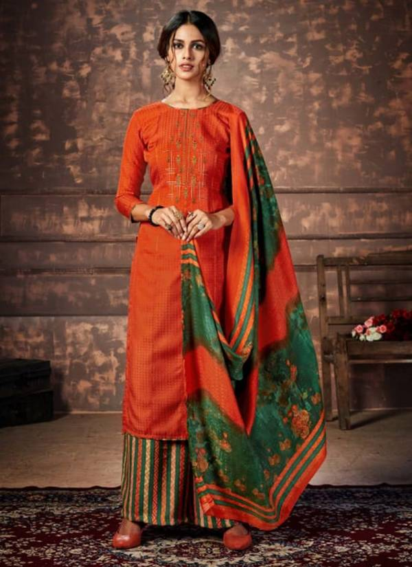 Winter Patayala Series 455 001-455 010 Pure Pashmina Print With Heavy Kashmiri Embroidery Work Salwar Suit Collection