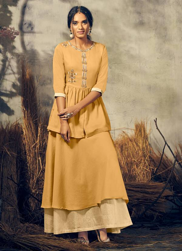 Oshna Viscose Stylish look Fancy Kurti With Bottom Collection AN34-AN39