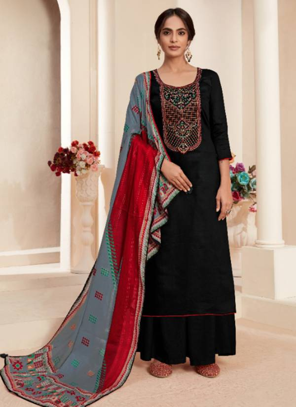 Levisha Panihari Series 6113-6120 Pure Jam Cotton With Embroidery Work Salwar Suit Collection