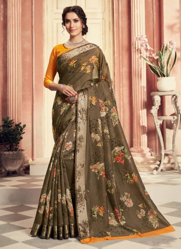 Pravina Vol 4 Linen Cotton Printed Stylish Look Exclusive Sarees Collection 67121-67132