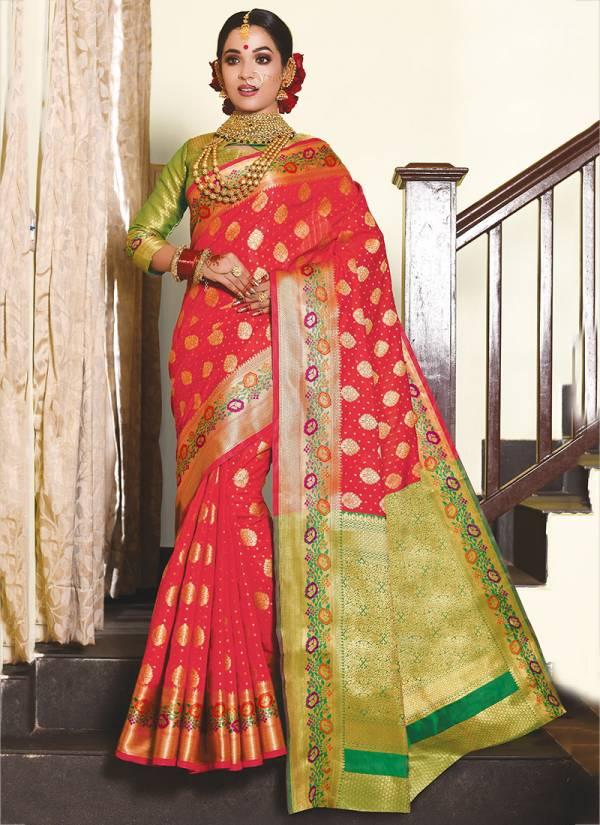 Sangam Infotech Rang Tarang Series 4001-4008 Silk Reception Wear Sarees Collection