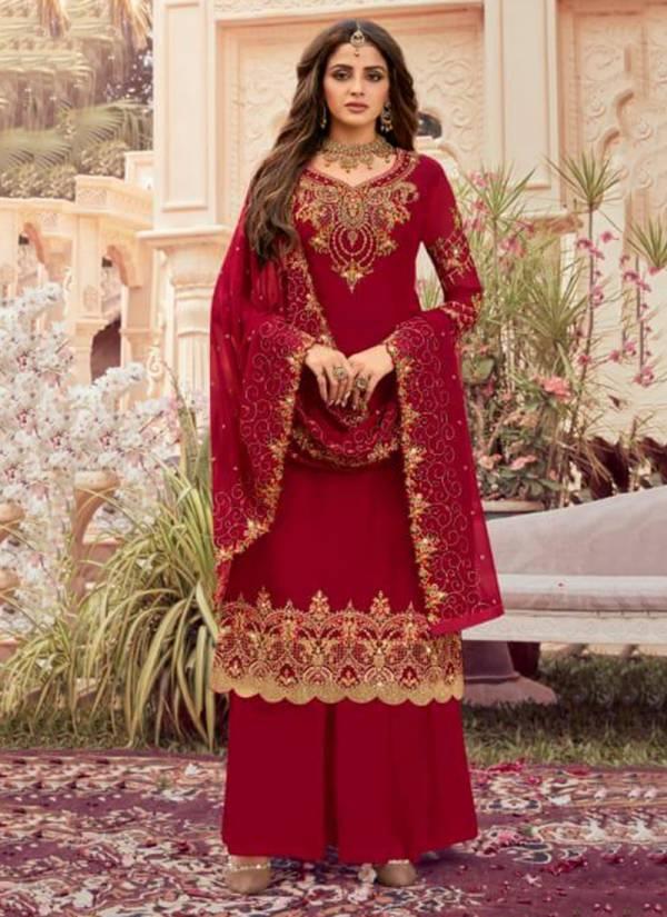 Rashi Rani Sahiba Series 11001-11006 Wedding Wear New Style Georgette With Heavy Embroidery Work Salwar Suits Collection