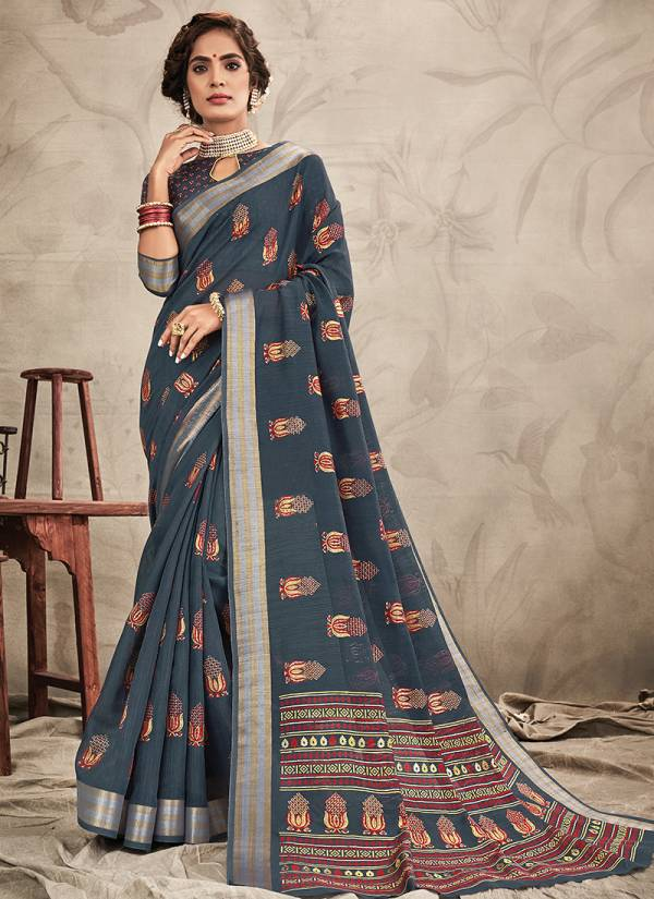 Sangam Resham Dori Series 1001-1008 Chanderi Fancy Look Sarees Collection