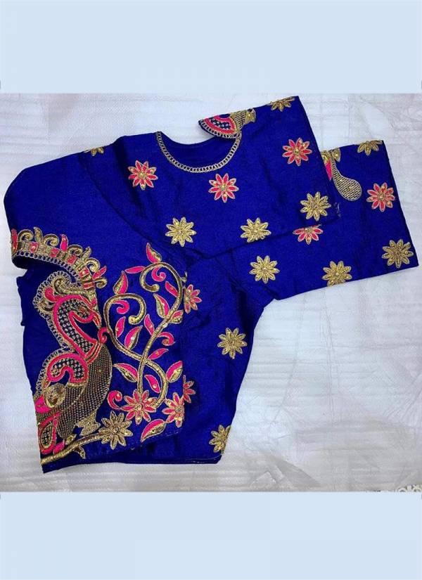 Ruhi Fashion Series 1-8 Stylish Look Phantom Silk Party Wear Blouse Collection