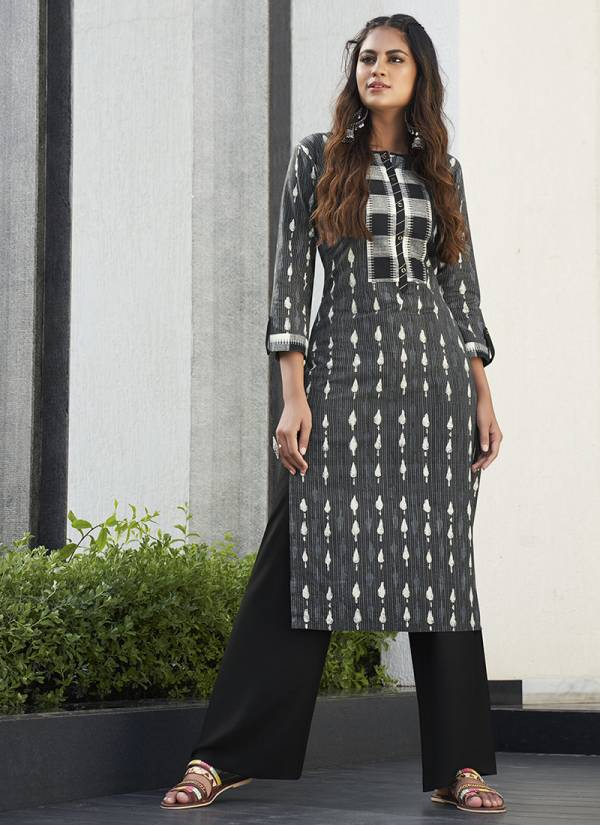 Runway Rayon Exclusive Kurti With Rayon And Cotton Bottom Regular Wear Collection 2451-2454