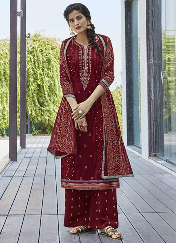 Kalarang Saheli Series 1661-1664 Latest Jam Silk Cotton With Fancy Sequance & Embroidery Work Suits Collection