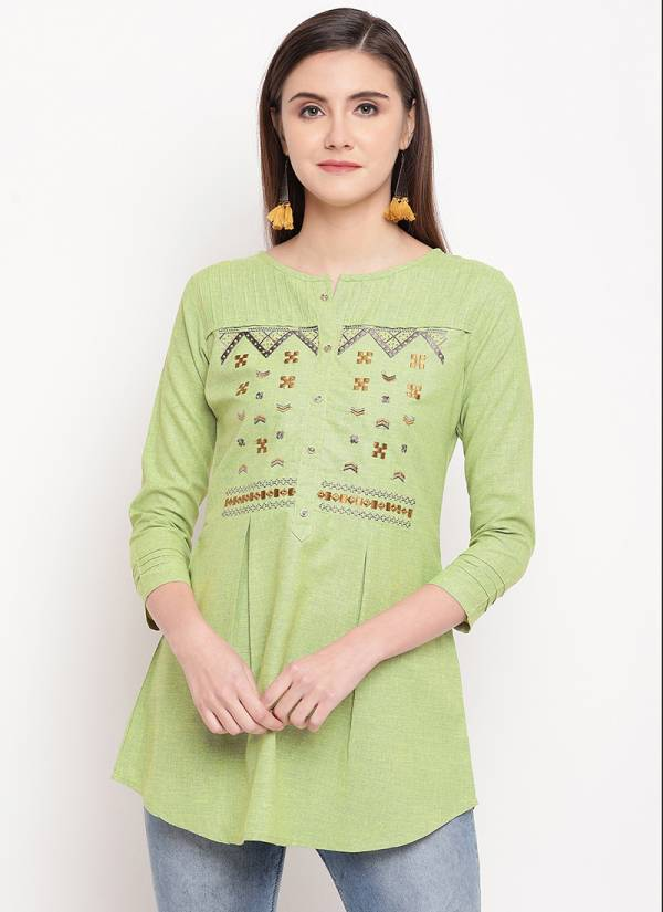 Sangini Cotton With Embroidery Work Fancy Top Collection PTHKR2701ATGH-PTHKR2708ATGH