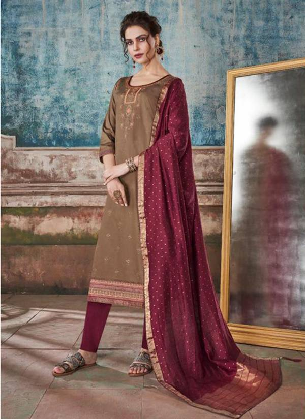 Saugat Jam Silk Embroidery And Swarovski Diamond Work Fancy Suits Collection 5471-5478